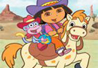 Dora Puzzle Cowgirl Game