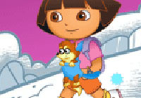 Dora Snow Fight Game